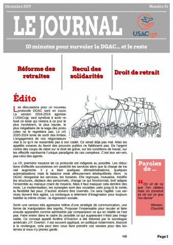 Le Journal de l'USACcgt N° 24 - Decembre 2019
