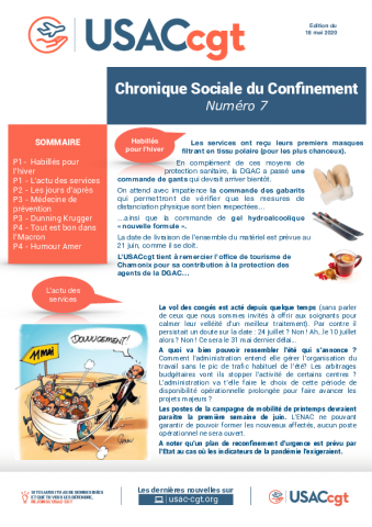 Chronique Sociale du Confinement n°7