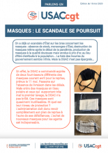 Masques : le scandale se poursuit