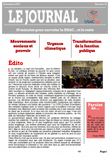 Le Journal de l'USACcgt N° 23novembre 2019