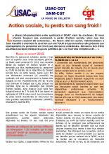 USAC et SNM-CGT : Action sociale tu perds ton sang froid